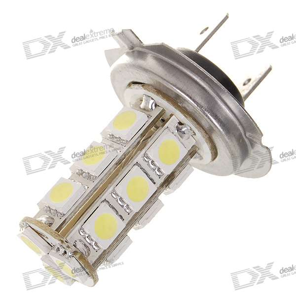 H7 6W 190-Lumen 18x5050 SMD LED Car White Light Bulb (DC 12V) 9006 6w 190 lumen 18x5050 smd led car white light bulb dc 12v