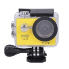 "EOSCN W9 HD1080P Waterproof 2/3"" CMOS 12MP Sports Camera w/ 2"" LTPS LCD / 900mAh Battery - Yellow"