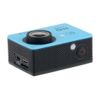 "EOSCN W9 HD 1080P Waterproof 2/3"" CMOS 12MP Sports Camera - Blue"