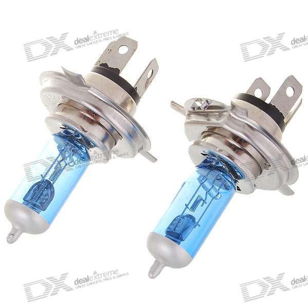 H4 100W 1000-Lumen 6000K White Car Light Bulbs (2-Pack/DC 12V)