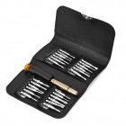 BEST 24-in-1 Phone Repair Disassemble Tools Kit w/ Artificial Leather Bag for IPHONE / Samsung