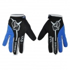 Yanho YAS366 Warm Full-Finger Fleece Gloves for Cycling - Black + Blue + Multi-Color (Pair / M)