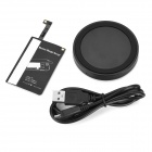 qi transmissor padrão + kit carregador wireless receiver - preto