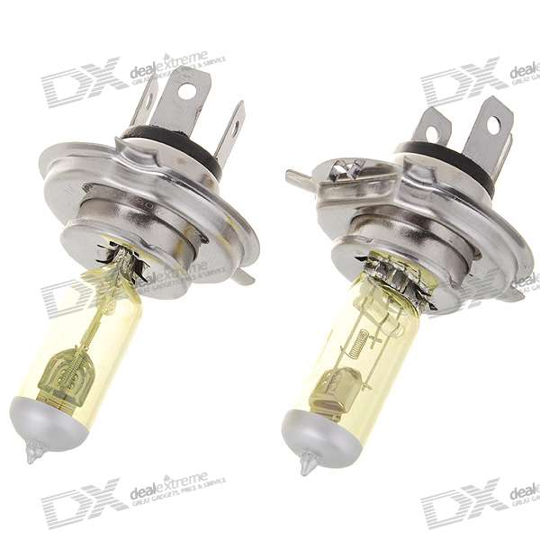 H4 100W 1000-Lumen 3000K Warm White Car Light Bulbs (2-Pack/DC 12V)