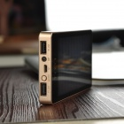 YB-010 Universal Dual USB 3927mAh Solar Power Bank - Black + Golden
