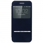 BASEUS Protective Flip Open PU + Plastic Case w/ Stand / Display Window for IPHONE 6 - Blue