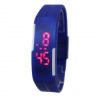 Sports Unisex Silicone Band LED Bracelet Watch - Blue