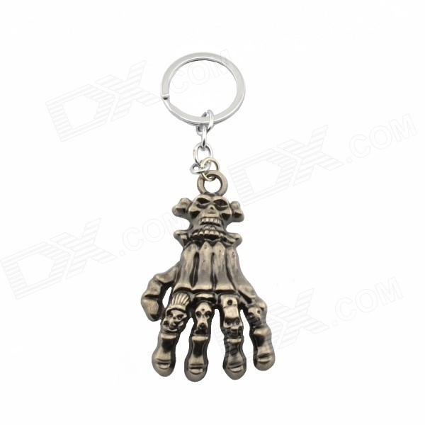 Creative Ghost Hand Style Zinc Alloy Keychain - Gun Color + Silver