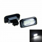 4W 350lm 7000K Cool White 18-3528 SMD LED Waterproof License Plate Light for Benz (2 PCS)