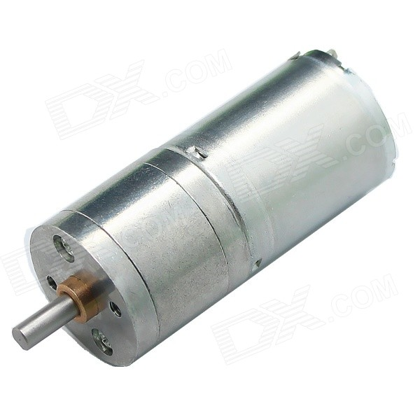 Mini 25mm 6V 60rpm High Torsion DC 370 Gear Motor Silver