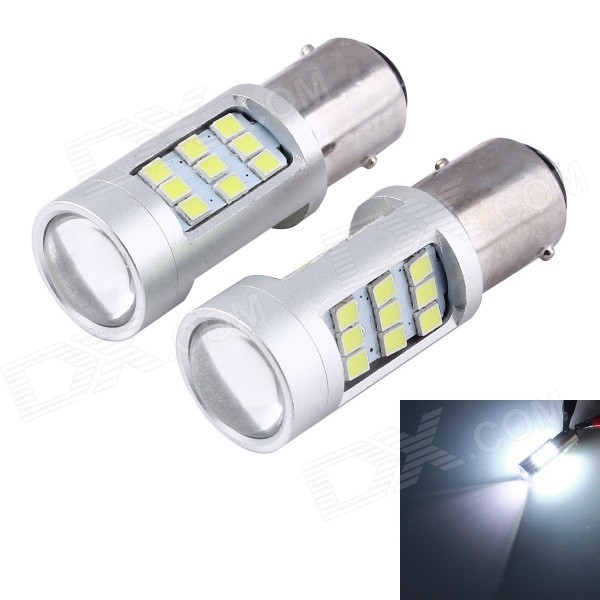 1156 40W 27-3528 + 3-2835 SMD Convex Lens Turn Signal/Back-up(2PCS)