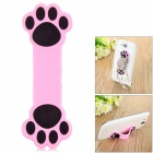 Paw Pattern Plastic Sunction Cup Cable Organizing Holder - Pink + Black