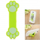 Paw Pattern Plastic Sunction Cup Cable Organizing Holder - Green + Sky Blue