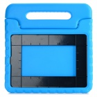 Portable Protective Plastic Back Case Cover w/ Handle / Stand for IPAD AIR 2 - Blue