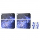 Outer Space Pattern PVC Sticker Set for PS4 - Purple + White + Multicolor