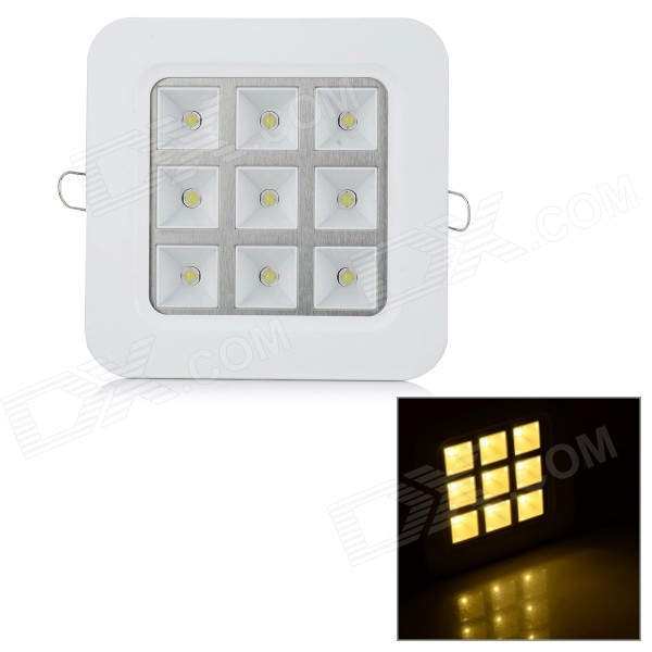 ZD-GS91D 9W 100lm 9-LED Warm White Light Grille Ceiling Lamp