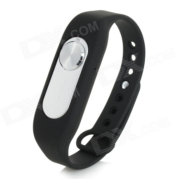 Sports Wrist Band Voice Recorder m / 8GB RAM - Svart + Sølv