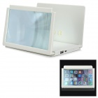 ZHZG-A518 Multi-in-One Mobile 2400mAh Power Bank / Screen Magnifier / Speaker Kit - White