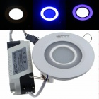 ZHISHUNJIA 10W 700lm 14-5630 12-2835 Blue Dimmable Round Panel Light