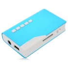 Lighter Style Non-screen Music MP3 Player w/ TF / 3.5mm / Mini USB - Blue + White