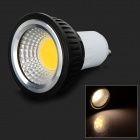 GU10 3W 250lm 3000K COB LED Warm White Light Spotlight - Black + White (AC 85~265V)