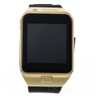 "GV09 1.55"" TFT LCD GSM Smart Watch Phone w/ BT / TF / 64MB RAM / 128MB ROM for Cellphone - Gold"