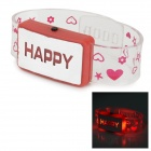 Sencart Glückliche LED Red Light Flashing Armband Prop Spielzeug - weiß + rot (3 x AG13)
