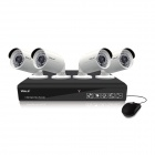 VOLS VS-4040CS 4-CH 720P AHD DVR Kit w / 500GB HDD, 4 x 1,3 MP Tag- / Nachtkameras (PAL / EU-Stecker)