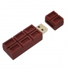 32GB Chocolate Style USB 2.0 Flash Drive - Coffee