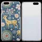 """Elk Pattern Protective Thin PC Back Cover Case for IPHONE 6 4.7"""" - Deep Cyan + Multi-Colored"""