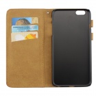 Wallet Style Flip-Open PU Leather Case for IPHONE 6S PLUS - Deep Brown