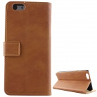 PU Leather Retro Flip Cover Case for IPHONE 6S PLUS - Brown