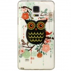 Buy Black Owl Pattern Back Case Samsung Galaxy Note 4 - White +
