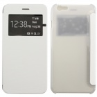 MO.MAT Ultrathin Flip Open PC + Fabric Case w/ Display Window for IPHONE 6 PLUS - White