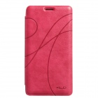 KALAIDENG Protective PU Leather Case w/ Stand for Samsung Galaxy Note 4 - Pink