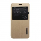 MO.MAT PU Leather Flip-open Case for Samsung Galaxy Note 4 - Golden