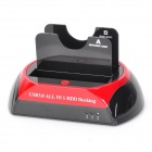 "USB 3.0 Dual HDD Docking Station with One Touch Backup for 2.5""/3.5"" SATA HDD"