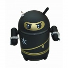 BT1043 Android Robot Style Wireless Bluetooth Speaker - Black