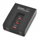 BTY BTY-3005 5-Port USB Charging for Cell Phones / Cameras - Black