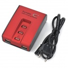 BTY BTY-3005 5-Port USB Charging for Cell Phones / Cameras - Red