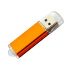 Classic Style ABS + Aluminum USB 2.0 Flash Drive - Transparent + Orange (32GB)