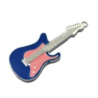 Zinc Alloy Electric Guitar Style USB 2.0 Flash Drive - Pink + Blue + Silver (16GB)