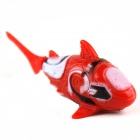 Shark Style Electronic Fish Toy - Red + White (2 x LR44)