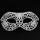 Sexy Hollowed Plastic Masquerade Face Mask - White