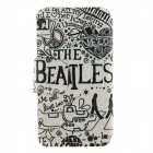 """THE BEATLES"" Pattern Flip Open Case for IPHONE 6 - White + Black"