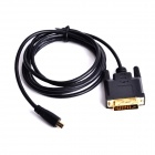 CHEERLINK Micro HDMI Male to DVI Male Cable - Black (180cm)