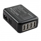 TC09IG 4-in-1 4-USB Port Charger Set - Black