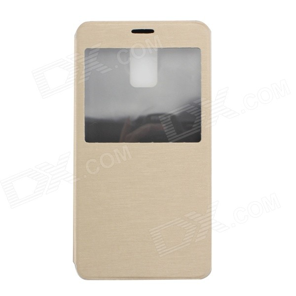 MO.MAT Ultra-thin Flip-open PU Leather Case for Samsung Galaxy Note 4