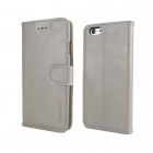 MO.MAT Wallet Style Protective PU Leather + PC Case w/ Stand / Card Slot for IPHONE 6 - Grey