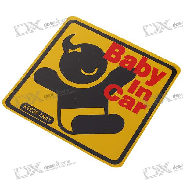 Stylish Safety Reflective Warning Sticker for Vehicles - Baby
